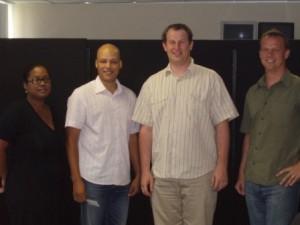 Bronwyn and Randall van der Merwe with Justinus Adriaanse and Paul Ten-Bokum