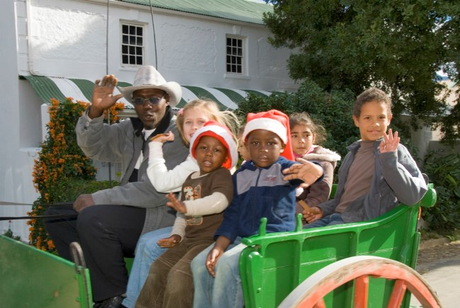 Kids at Christmas event in Tulbagh