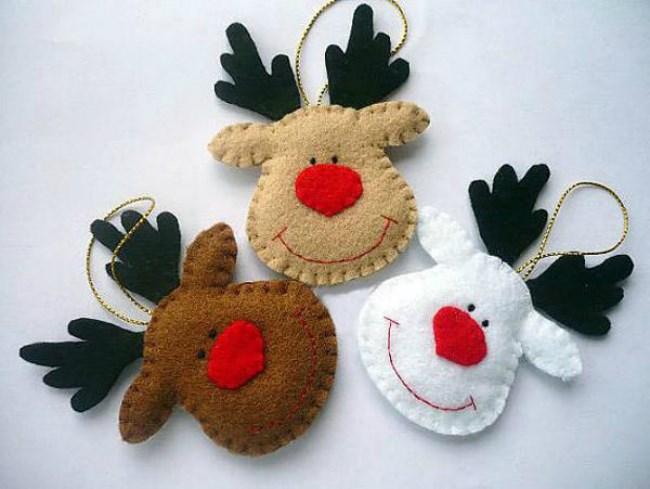 handmade Christmas decorations 3 Rudolf Christmas tags