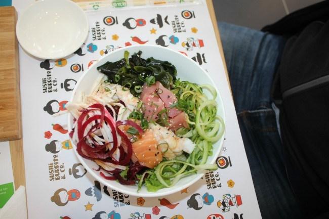 Sushi Burrito and Co food dishes