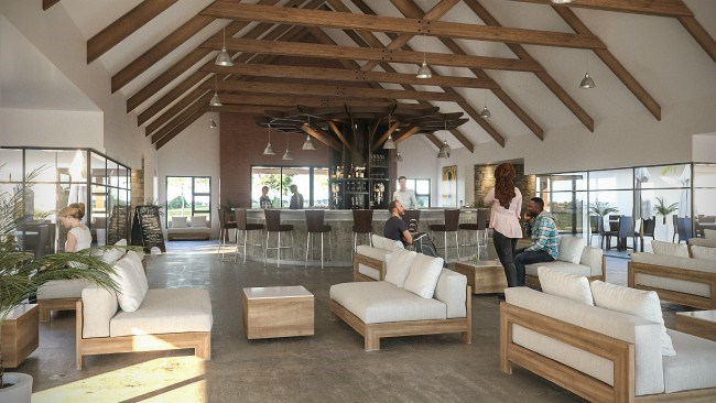 Inside interior of the clubhouse at Heron Banks Golf and River Estate