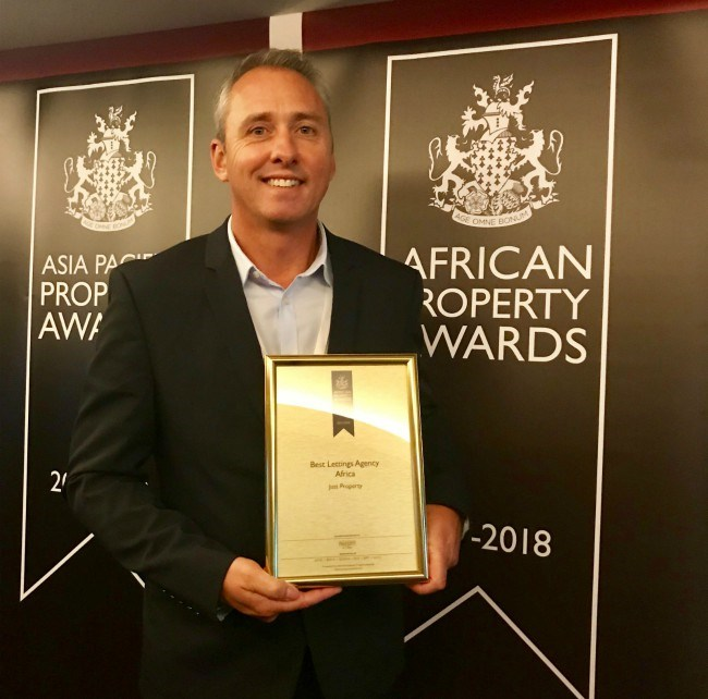 Just Property CEO, Paul Stevens wins award for excellence