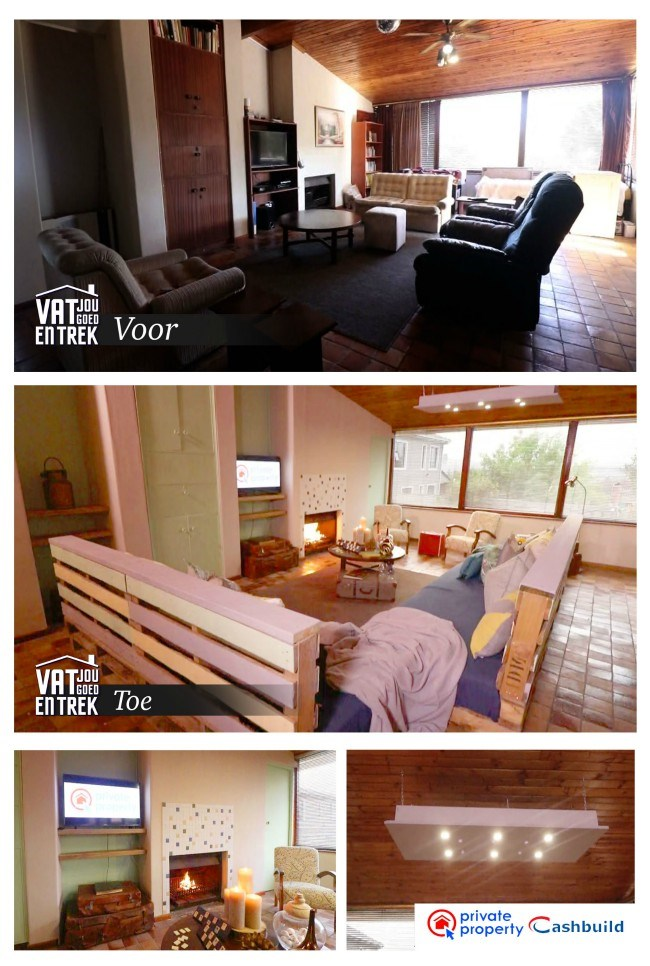 Before and after images - the big reveal for vat jou goed en trek