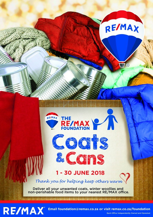 Re/max coats and cans