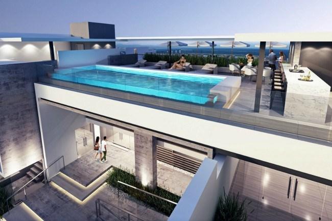 Plett Quarter rooftop a communal pool