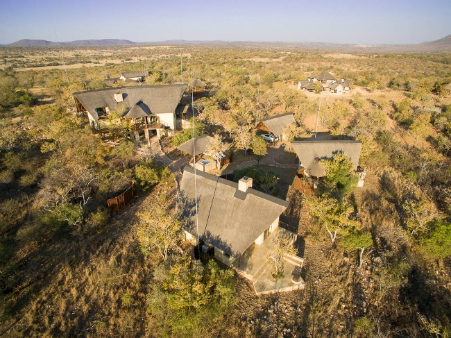 aerial view of Retief Goosen's homestead
