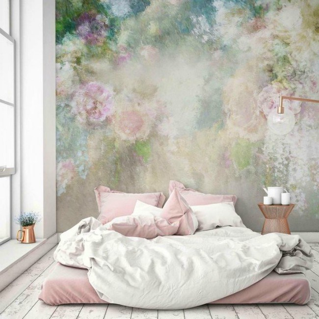 Blush Pink Paint Colour Shown On Walls
