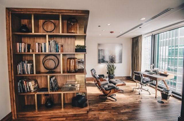 A stylish bookcase