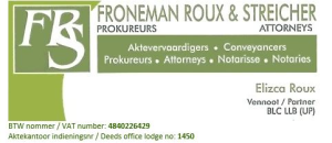 Froneman Roux and Streicher Attorneys