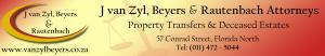 J van Zyl, Beyers & Rautenbach