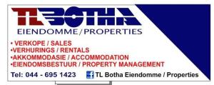 TL Botha Properties-Hartenbos